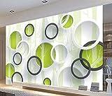 Zybnb Benutzerdefinierte 3D Wandbild Tapete Moderne Europäische Wohnzimmer Tv Hintergrund Vliestapete Wandverkleidung Wandbilder Geometrische Kreise