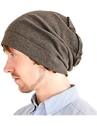 Casualbox Organico Cotone Cappello A Tesa Larga Beanie Berretto Incurvato  Largo Cappello per Uomo   Donna ac1ff1441410