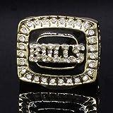 S-P Collezione di Fan di Sport Champion Rings Fans Men's Memorial Rings Collezioni di Fascia Alta Fans Alloy Rings Accessori da Uomo Accessori Vintage, Oro, 10