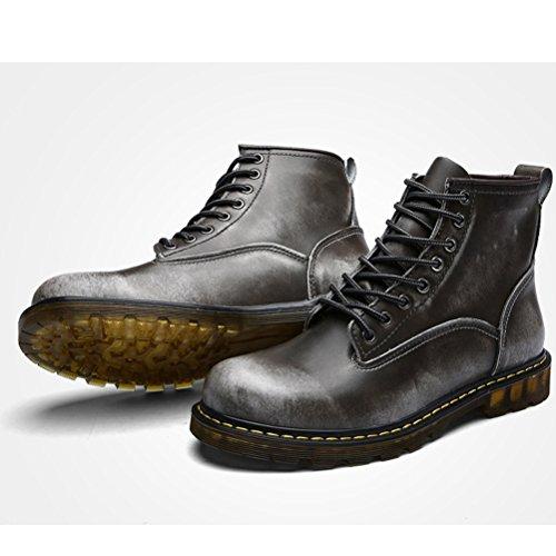 MatchLife Herren Vintage Kurzschaft Stiefel Grey