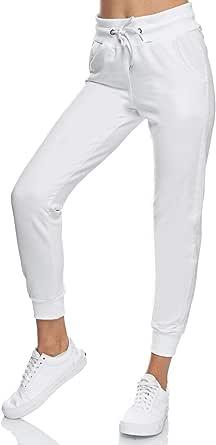 Smith & Solo Pantaloni da jogging da donna – Pantaloni sportivi da donna in cotone   Slim Fit pantaloni lunghi   Pantaloni da allenamento fitness a vita alta – Pantaloni da corsa moderni