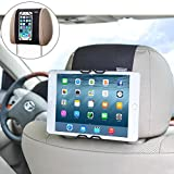 "WANPOOL Soporte Universal Reposacabezas de Coche para Móviles y Tabletas iPhone 6 / 6s / 7 Plus –HUAWEI Mate 9 – Samsung Phones – iPad 2 / 3 / 4 – iPad Air – iPad Mini – iPad Pro 9.7"" pulgadas y Más"