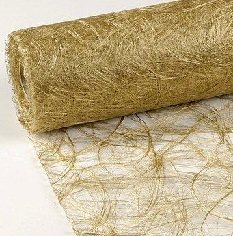 25 m x 30 cm Sizoweb® Vlies Original Tischband Tischläufer gold für Hochzeit, Weihnachten ...