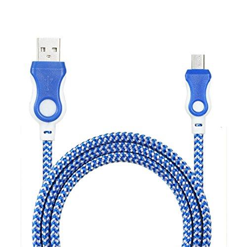 Cargador movil Android , Amlaiworld Cable de cargador universal Micro USB Cable de carga para teléfono Android (Azul)