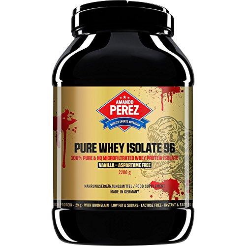 Vanille Pur Gesund (Pure Whey Protein Isolate 96 - mikrofiltriert Whey Protein - 2200 g - Vanille)