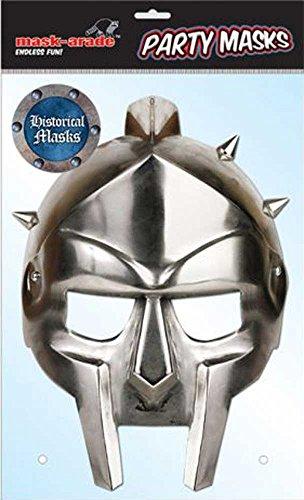 Historical Gladiator Papp Maske, aus hochwertigem Glanzkarton mit Augenlöchern, Gummiband - Grösse ca. 30x21 (Gladiator Maske)