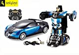Zest 4 Toyz Remote Controlled one Button Car To bugatti style Transformer
