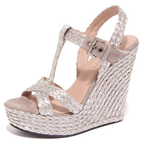 8871P sandalo zeppa PURA LOPEZ argento scarpa donna sandal woman [38]