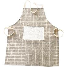 DaoRier 1pc Delantal de Media Longitud con Lavado de Aceite Profesional Cocina Chef Cocina Delantal