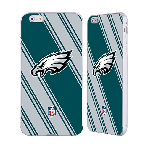 Ufficiale NFL LED 2017/18 Philadelphia Eagles Argento Cover Contorno con Bumper in Alluminio per Apple iPhone 5 / 5s / SE Righe