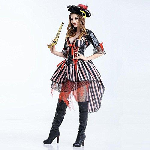 CYY Halloween Frauen-Leistungs-Verhältnis Piraten-Outfit Rollenspiele Bühne Leistung Partei