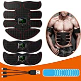Yoart EMS Muscle Stimulator, Abs Trainer Muscle Toner with USB Rechargeable LCD Display