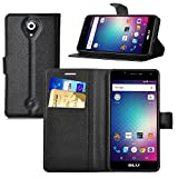 BLU Studio G HD LTE Case, iBetter BLU Studio G HD LTE Wallet Case Premium PU Leather Wallet Smartphone Case with Stand Function for BLU Studio G HD LTE (Black)
