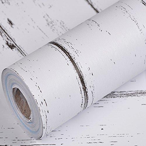 KANG@ Tapete 3D Wallpaper Roll modernen minimalistischen Abstrakte Kurven Glitter Non-Woven Beflockung gestreifte Tapeten für Schlafzimmer Wohnzimmer TV-Kulisse, weiß Ahorn - Ahorn Roll