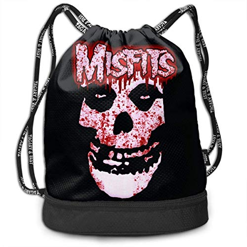 Zaini e borse,Zaini casual,Borse da palestra, Misfits Drawstring Bag Bundle Backpack Baseball Backpack Sport Bag for Men & Women