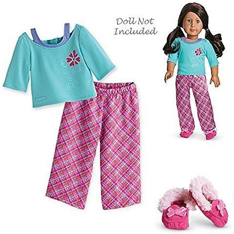 American Girl - Petals & Plaid PJS for Dolls -