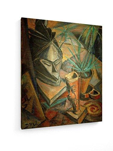 Dorothea Maetzel-Johannsen - Afrikanisches Stillleben - 50x60 cm - Textil-Leinwandbild auf Keilrahmen - Wand-Bild - Kunst, Gemälde, Foto, Bild auf Leinwand - Alte Meister/Museum