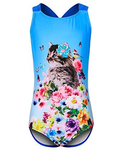 DAYU Badeanzug für Mädchen,Bademode Cute Kitty Baby Anzüge Beachwear -S
