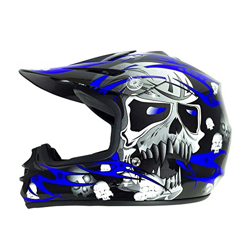 Viper Helmets A152 A152BB3XS Casco Para Moto Infantil RSX12, XXXS, Color Negro y Azul