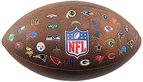 Wilson Nfl All Team Logo Pallone da Football Americano, Marrone, Taglia Unica