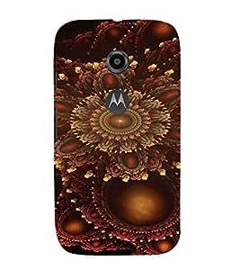 PrintVisa Modern Art Design 3D Hard Polycarbonate Designer Back Case Cover for Motorola Moto E2