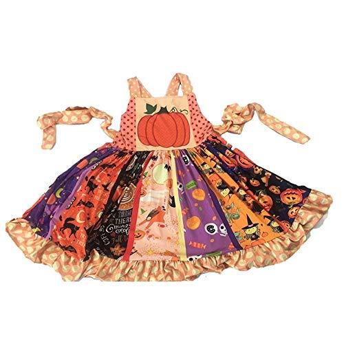 XIAOYUTOU Sleeveless Kleidkindsommerhalloween-Kinderkleidung des Großhandels- / Kleinhandelkürbiskleidbaby-Art und Weiseboutiquebügels (Color, Kid Size : 12M) (Kinder Tanz Kostüm Großhandel)