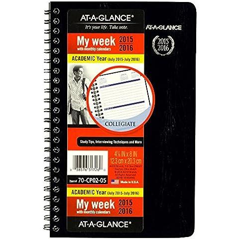 A che avvisa quando la preda, per planning mensile e settimanale per appuntamenti, motivo: libro stile, per anno 2015, luglio luglio 2016, 12,40 20,32 cm x 8 x (4,88