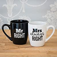 The Source Wholesale Mr and Mrs Always Right - Juego de Tazas