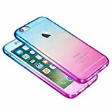 Shockproof 360� Silicone Protective Hybrid Clear Case Cover For Apple iPhone 7 6S Plus 6S 6 SE 5S 5C 5 4S 4 (iPhone 4/4s, Blue/Purple)