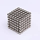 Magnetic Beads, Magic Building Ball Toys, Toys Intelligence Learning En Stress Relief & Gift Voor Volwassenen (216Pcs / 5Mm, Zilver)