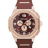 Otumm Speed Unisex Reloj Oro Rosa Chocolate 53mm Chronograph