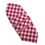 Hans-Textil-Shop Servietten 50x50 cm Karo 1x1 cm Rot Baumwolle
