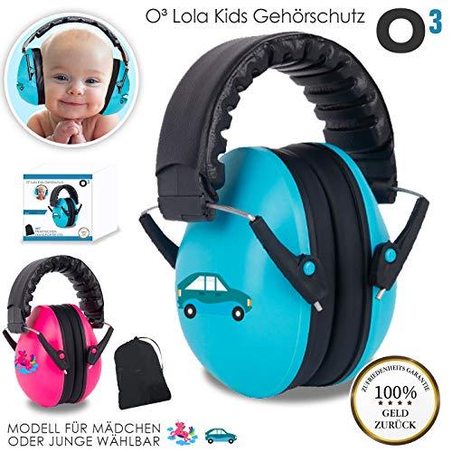 O³ Lola Kids Gehörschutz Baby // für Babys von 0-2 Jahren // Mit extra weichem Kopfbügel (Junge)