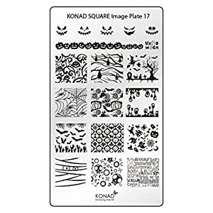 Original KONAD Square 17 Stamping Schablone - SQUARE No. 17 Image Stamping Plate
