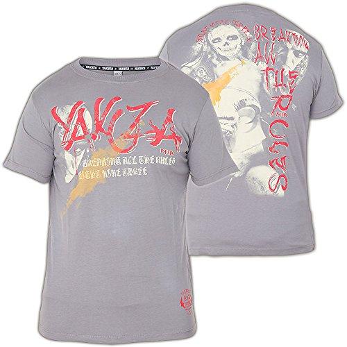 Yakuza T-Shirt TSB-315 Grau Grau