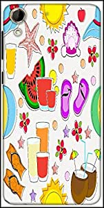 Snoogg Abstract Summer Background Designer Protective Back Case Cover For HTC Desire 728
