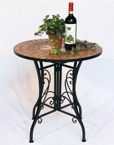 Table Mosaic Merano 12001 Garden table D-60cm Metal Side table Patio table