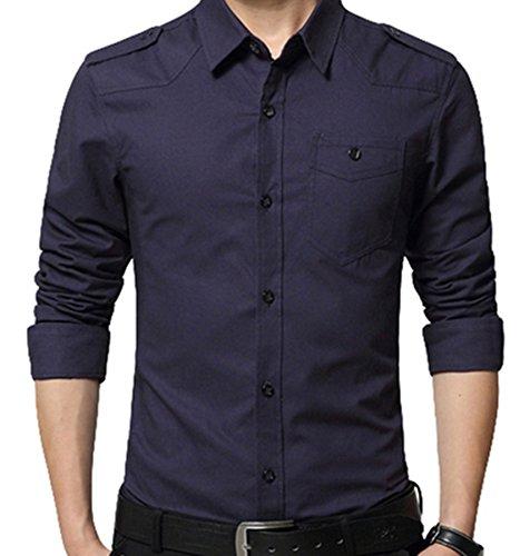 PLAER -  Camicia Casual  - Uomo Dark Blue