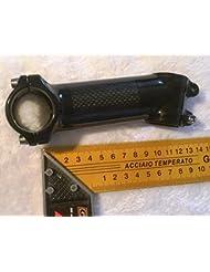 Manillar Carbon Look 31,8mm larga 80–110mm 17° Negro, 110 mm