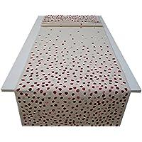 Camino de mesa con puntos rojos,Manteles modernos, BeccaTextile.