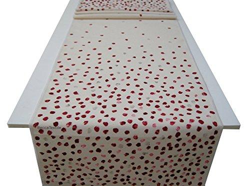 Camino de mesa con puntos rojos