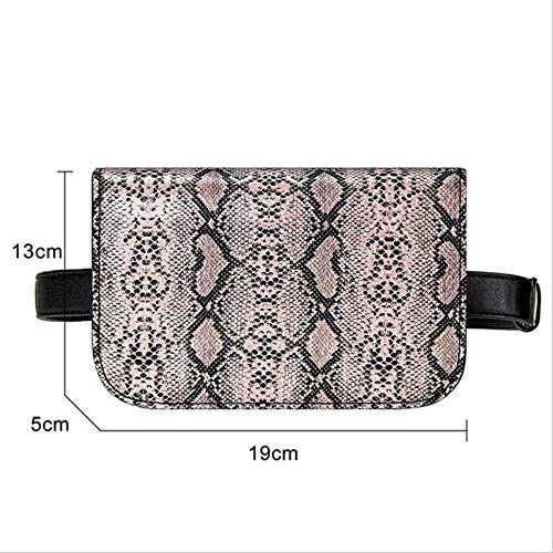 YAOBAOYB Hüfttasche Vintage Taille Tasche Frauen Pu Leder Gürtel Tasche Taille Pack Reise Gürtel Brieftaschen Fanny Taschen Damen Fit 5,5 Zoll Handys rosa (Fanny Pack Rosa Neon)