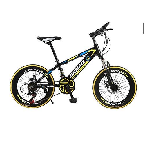 TBAN Kinderfahrrad, 20 Zoll, Mountainbike, Aluminiumlegierung Doppelscheibenbremse, 21-Gang-Schaltung Rennrad Stoßdämpfung,B