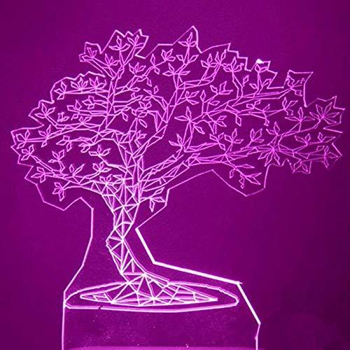GBBCD Nachtlicht 3D Usb Visuelle Led Bunte Kiefer Modellierung Nachtlicht Innendekor Atmosphäre Tischlampe Kreative Schlaf Leuchte Geschenke