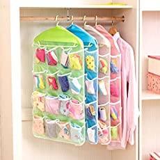 Trexee Polyester and PE 16 Pockets Clear Door Hanging Storage Organizer, 80x42cm (Multicolour)