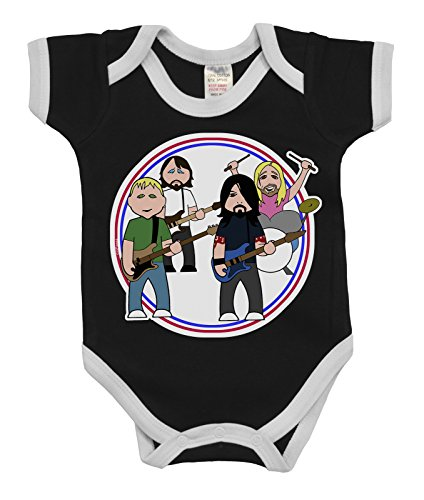 VIPwees Baby Kleidung Babygrow The Flu Fighters Music Boys & Girls Baby Bodysuit (Funny Baby Boy Kleidung)