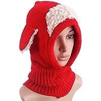 YeahiBaby Red Super Keep Warm Baby Girls Boys Winter Hat Bufanda Earflap Hood Bufandas