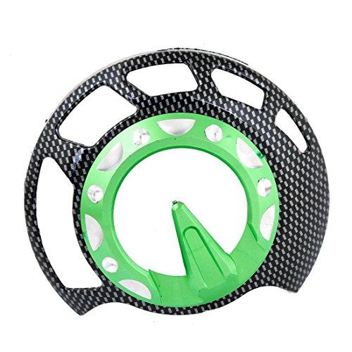 Runde Form, Grün, Schwarz Kunststoff Räder Design Fan-Abdeckung für Motorrad