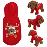 Rrimin Pet Dog Christmas Dress Teddy Bears Christmas Jacket Cotton Pet Sweater - B075R8FB45