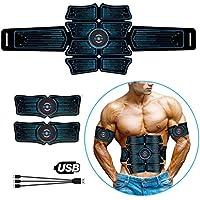 NIULLA EMS Abdominal Trainer Body Slimming Belt ABS Estimulador Muscular Toner Home Gym Fitness Ejercicio Electroestimulación Pegatinas